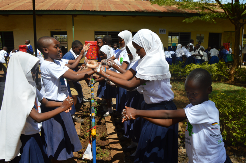 Handwashing in Tansania